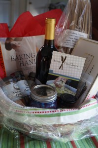 Salem Food Tour Gift Baskets are filled with local items.