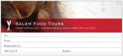 Photo of Salem Food Tours Gift Certificate